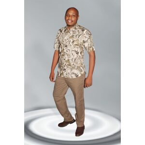 Men's Shirts; Floral Printed Casual Regular Fit Shirts