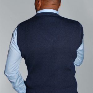 Men's Knit Wear;Plain Sleeveless V-Neck Sweaters.