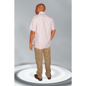 Men's Shirts; Checked Regular Fit Short Sleeved Casual Shirts.