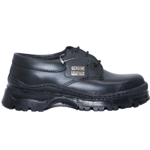 Kids Shoes; Toughees By Bata, Black Lace-Up Children Shoes