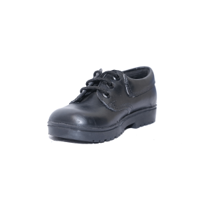 Kids Shoes; Leather For Me Junior Black Leather School Shoes #7-12