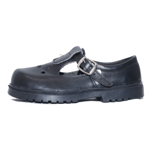 Kids Shoes; Leather For Me Black Leather Girls Shoes #7-12