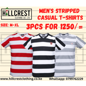 Mens Striped Casual T-shirts