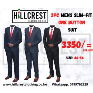 1 button suit