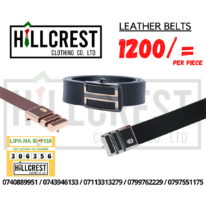 Leather belt for men.
