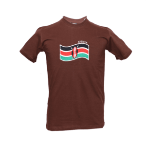 Men's Kenya Flag Embroidered T Shirts
