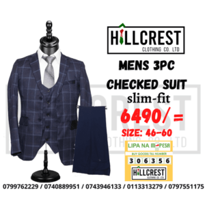 Men's 3 piece Checked suits